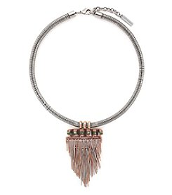 Vince Camuto™ Two-Tone Fringe Fall Drama Pendant Necklace