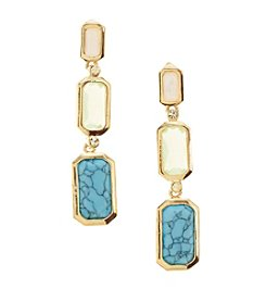 Lauren Ralph Lauren Goldtone Multi-Stone Linear Drop Earrings