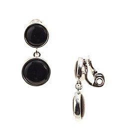 Napier® Silvertone Double Drop Clip Earrings