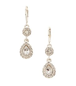 Napier® Silvertone Double Drop Earrings
