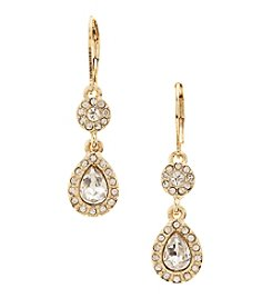 Napier® Goldtone Double Drop Earrings
