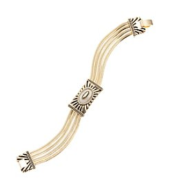 Napier® Goldtone Multi Row Bracelet in Gift Box