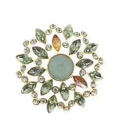 Napier® Goldtone Floral Burst Pin in Gift Box