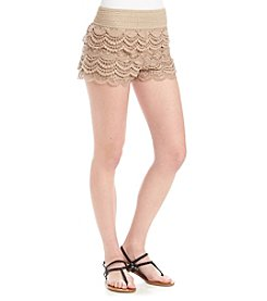 Jolt® Crochet And Lace Trim Shorts