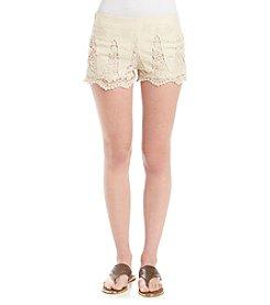 Boom Boom Crochet Inset Shorts