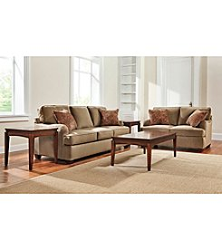 Bauhaus Captain Basil Microfiber Sofa & Loveseat Set