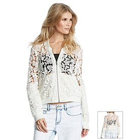 KIIND OF Vicki Lace Bomber Jacket