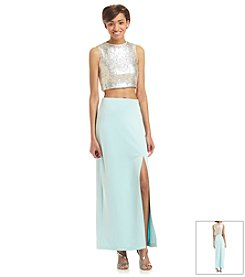 Emerald Sundae® Two Piece Sequin Dress
