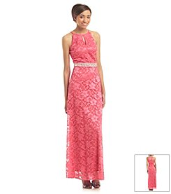 A. Byer Lace Beaded Dress