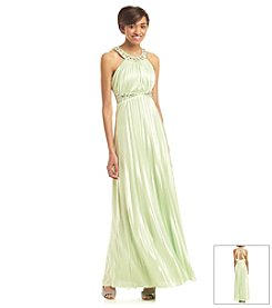 My Michelle® Pleated Jeweled Dress