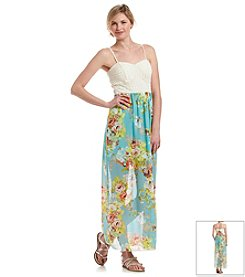 Trixxi® Bow Back Floral Maxi Dress