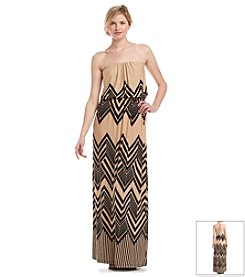 Trixxi® Chevron Print Maxi Dress