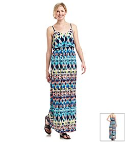 Trixxi® Printed Popover Maxi Dress