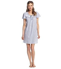 Aria® White Leaves Sleep Gown