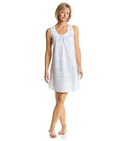 Miss Elaine® Sheer Blue Floral Sleep Gown