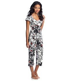 Linea Donatella® Paisley Patch Pajama Set