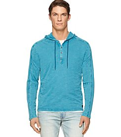 Calvin Klein Men's Long Sleeve Mixed Media Hoodie