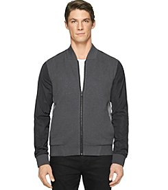 Calvin Klein Men's Long Sleeve Knit Interlock Bomber