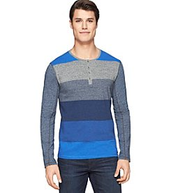 Calvin Klein Men's Long Sleeve Colorblock Henley