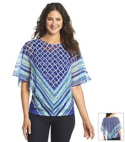 Oneworld® Poncho Layered Top