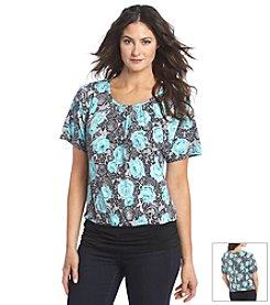 AGB® Printed Dolman Sleeve Top