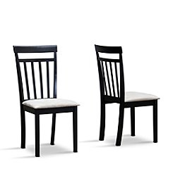 Baxton Studios Jet Warm Set of 2 Dining Chairs