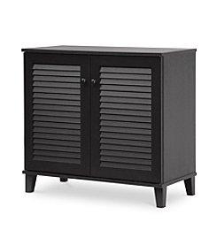 Baxton Studios Coolidge Espresso Shoe-Storage Cabinet
