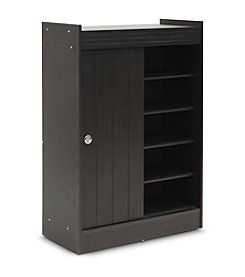 Baxton Studios Espresso Shoe-Rack Cabinet