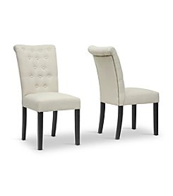 Baxton Studios Brittany Modern Beige Set of 2 Dining Chairs