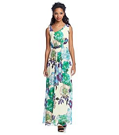 Nine West® Floral Asymmetrical Gown