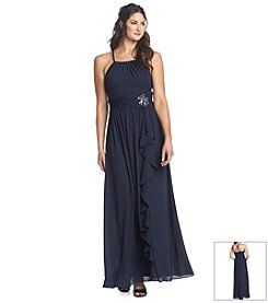Nine West® Halter Cascade Gown