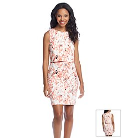 Ivanka Trump® Blurred Floral Popover Dress