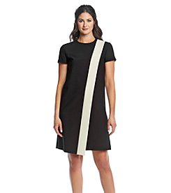 Anne Klein® Overlap Crepe Shift Dress