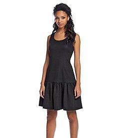 Ivanka Trump® Jacquard Ruffle Dress