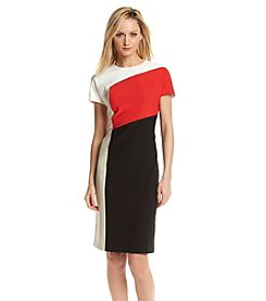 Anne Klein® Colorblock Crepe Sheath Dress