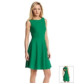Calvin Klein Grass Cut Out Fit And Flare Dress