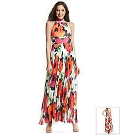 Eliza J® Floral Pleated Maxi Dress