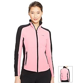 Lauren Active® Petites' Color-Blocked Full-Zip Jacket
