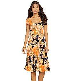 Lauren Ralph Lauren® Petites' Paisley Drop-Waist Dress