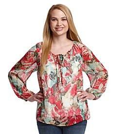 Jessica Simpson Plus Size Claudia Floral Woven Top
