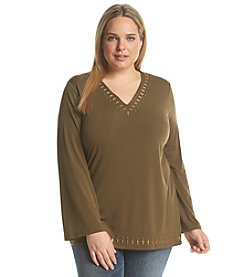 MICHAEL Michael Kors® Plus Size Studded V-Neck Tunic