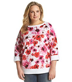 Jones New York Sport® Plus Size Floral Pullover