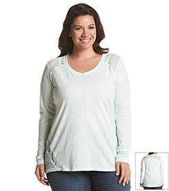 DKNY JEANS® Plus Size Eyelet Lace Top