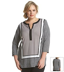 Jones New York Signature® Plus Size Scarf Print Tunic