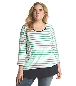 Jones New York Sport® Plus Size Asymmetrical Stripe Tunic