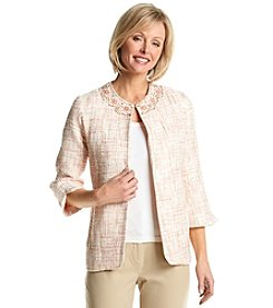 Alfred Dunner® Petites' Romancing The Stone Textured Jacket