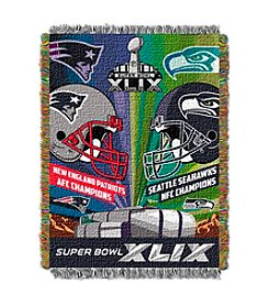 NFL® Super Bowl XLIX Dueling Seahawks vs. Patriots Tapestry Throw