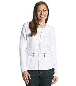 Laura Ashley® Petites' Peplum Jacket