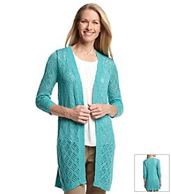 Laura Ashley® Pointelle Tunic Cardigan