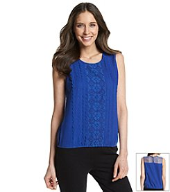 Vintage America Blues™ Sleeveless Top With Lace Detail